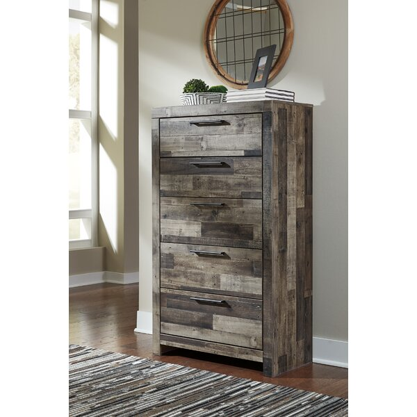 Wilcoxen 5 Drawer Chest by Millwood Pines