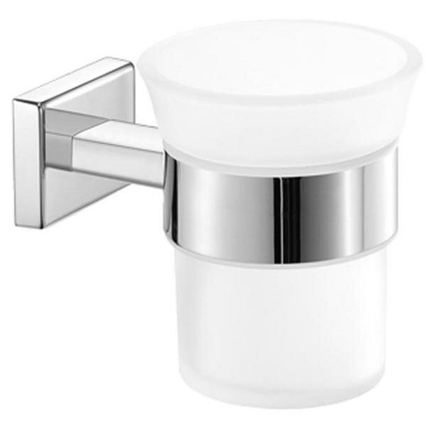 Skillman Wall Frosted Glass Toothbrush & Tumbler Holder by Orren Ellis