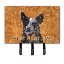 Australian Cattle Dog Wipe Your Paws Key Holder by Caroline's Treasures