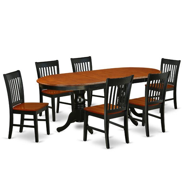 Phina 7 Piece Extendable Solid Wood Dining Set by Winston Porter Winston Porter