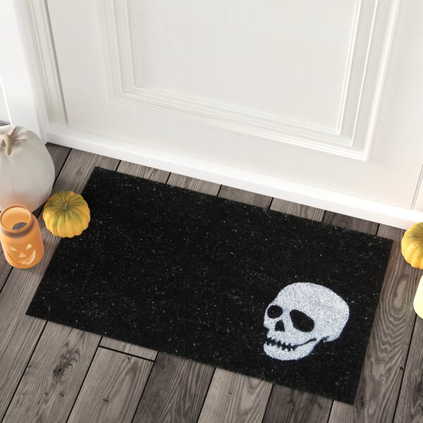 Skull Doormat by The Holiday Aisle