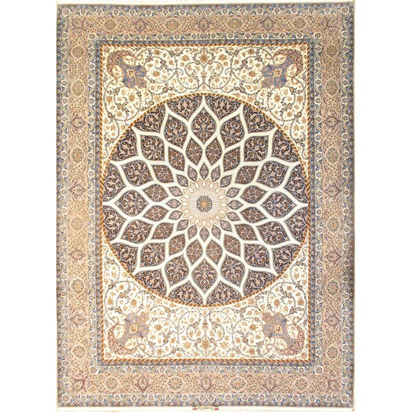 One-of-a-Kind Glenward Hand-Knotted Traditional Style Brown 9'11 x 13'8 Area Rug