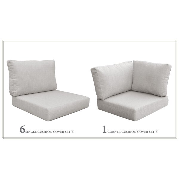 High Back 5 Piece Indoor/Outdoor Replacement Cushion Set By Highland Dunes