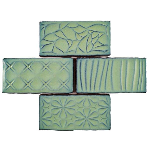 Antiqua Sensations 3 x 6 Ceramic Subway Tile in Green by EliteTile