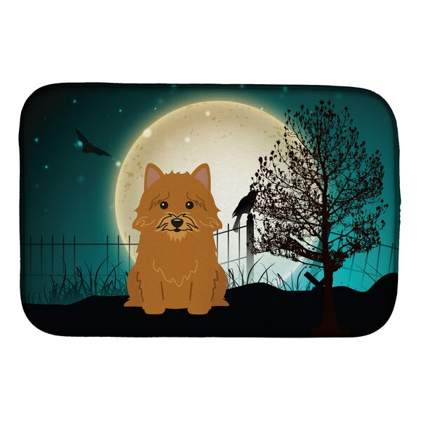 Halloween Scary Norwich Terrier Dish Drying Mat by Caroline's Treasures