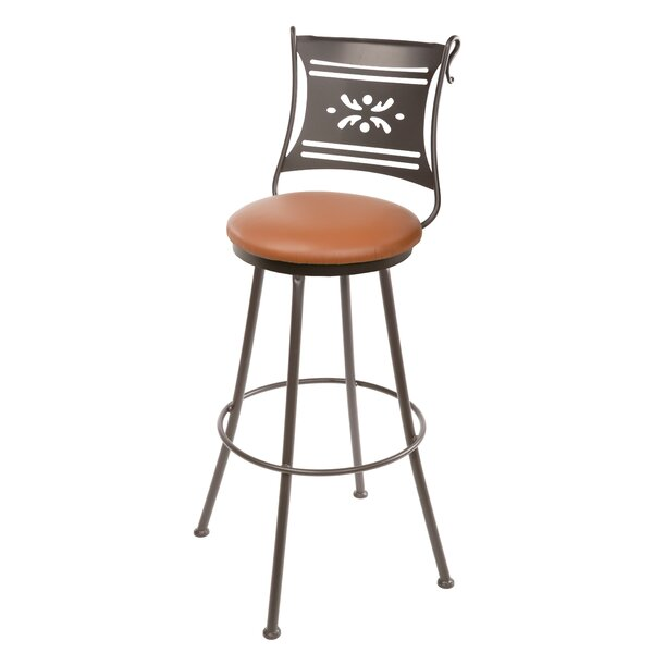 Chidester 25 Swivel Bar Stool by Fleur De Lis Living
