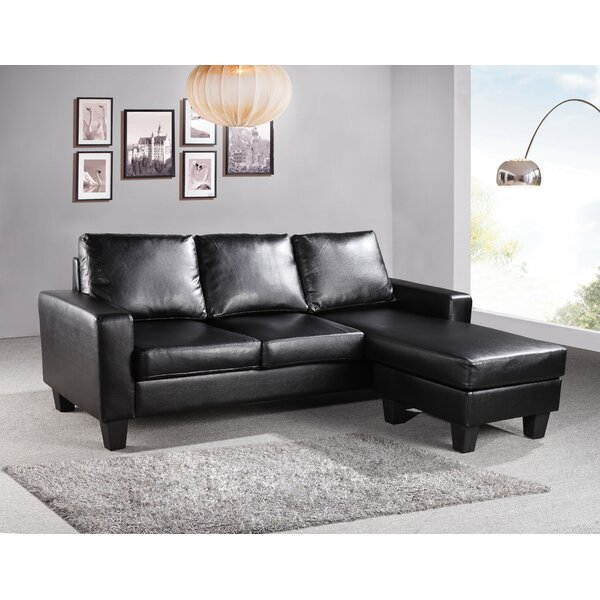 Bratton Reversible Sectional By Charlton Home