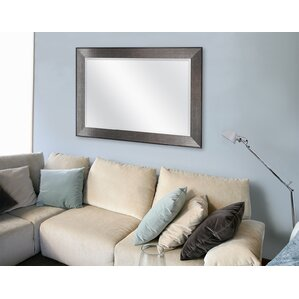 Rectangle Pewter Beveled Wall Mirror Part 57