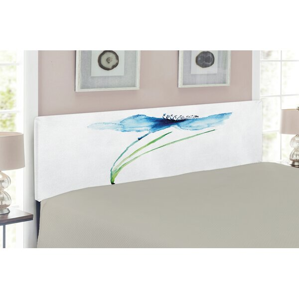 Watercolor Flower Upholstered Panel Headboard By East Urban Home Top Reviews