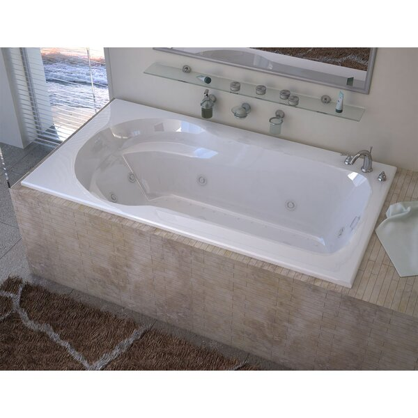 Grenada 59.13 x 31.5 Rectangular Air & Whirlpool Jetted Bathtub with Drain by Spa Escapes