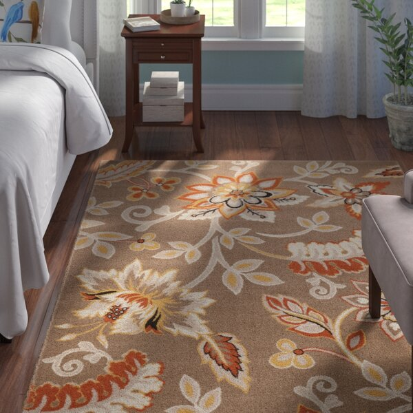 Selina Hand Tufted Brown Area Rug by Andover Mills