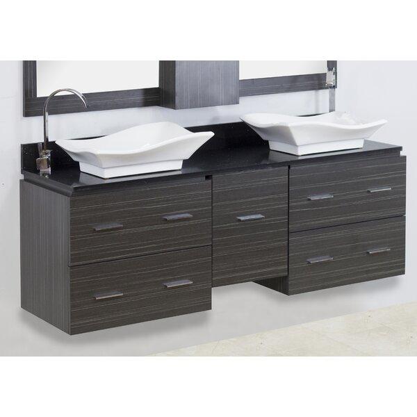 60 Double Modern Wall Mount Bathroom Vanity Set by American Imaginations