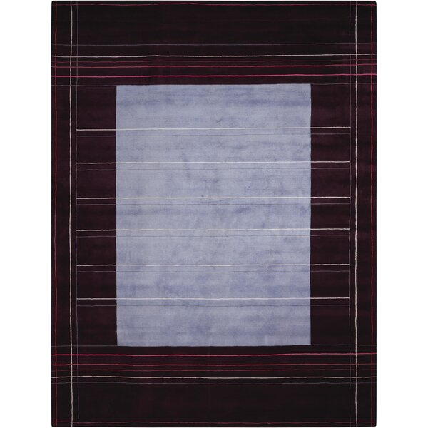 Hand-Knotted Wine/Purple Area Rug by Calvin Klein