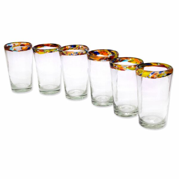 Handcrafted Blown Glass Highball Glass (Set of 6) by Novica
