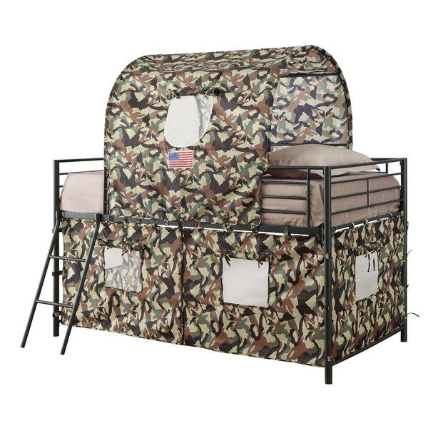 Kali Camouflage Tent Twin Loft Bed by Zoomie Kids