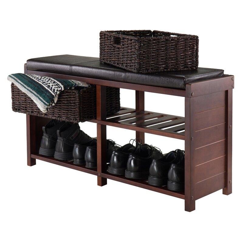 Charlton Home Bliven Cushion Storage Bench & Reviews