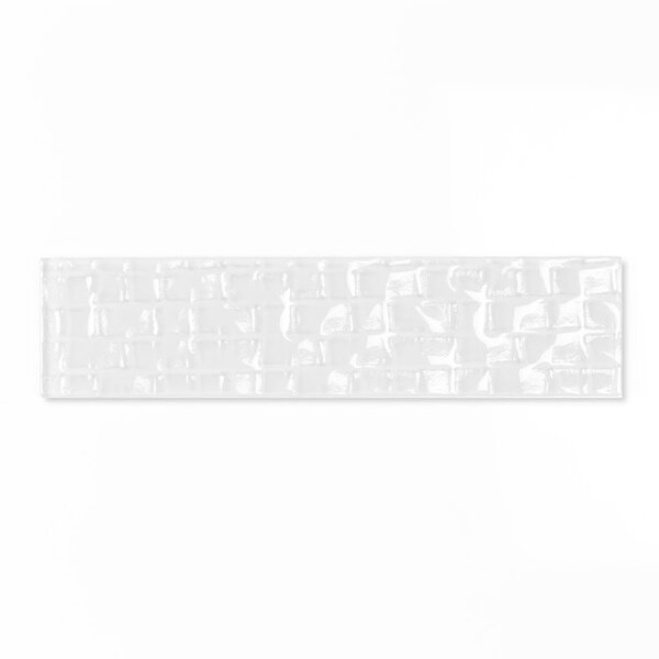 Metro 2 x 8 Glass Subway Tile in Snow by Abolos
