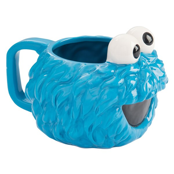 Sesame Street Cookie Monster Sculpted Ceramic Coffee Mug by Vandor LLC