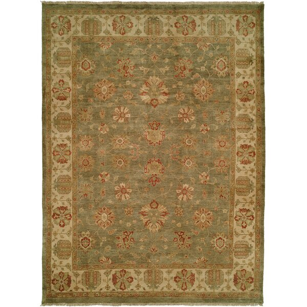 Buenaventura Hand-Knotted Green/Ivory Area Rug by Wildon Home ®