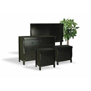 leishman antique wood 4 piece dresser and chest set