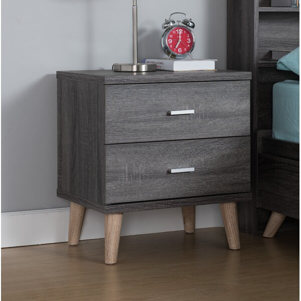 Grosso 2 Drawer Nightstand by Wrought Studio