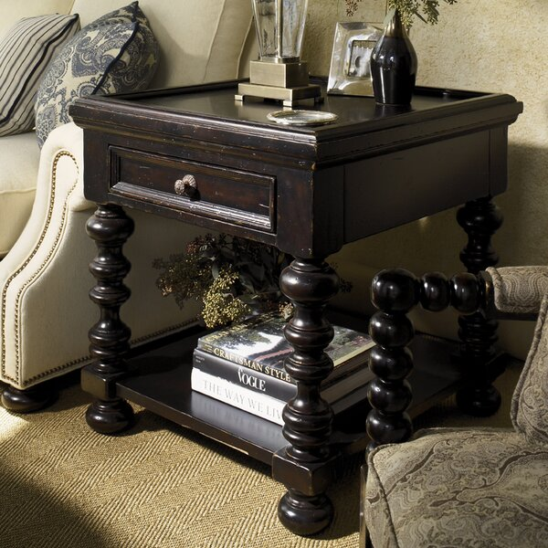 Kingstown Explorer End Table with Storage by Tommy Bahama Home