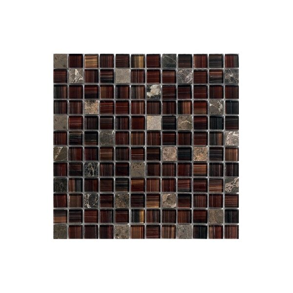 12 x 12 Glass Mosaic Tile in Brown by Kellani