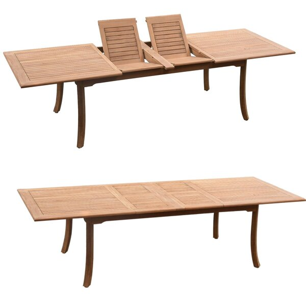 Derick Extendable Teak Dining Table by Rosecliff Heights
