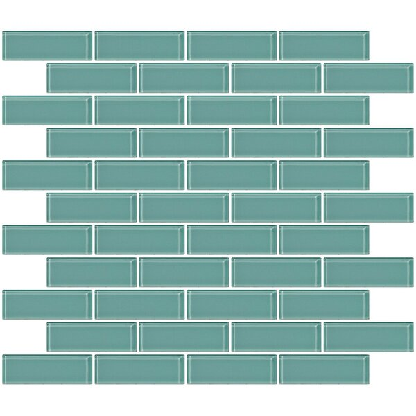 1 x 3 Glass Subway Tile in Light Aqua Blue by Susan Jablon