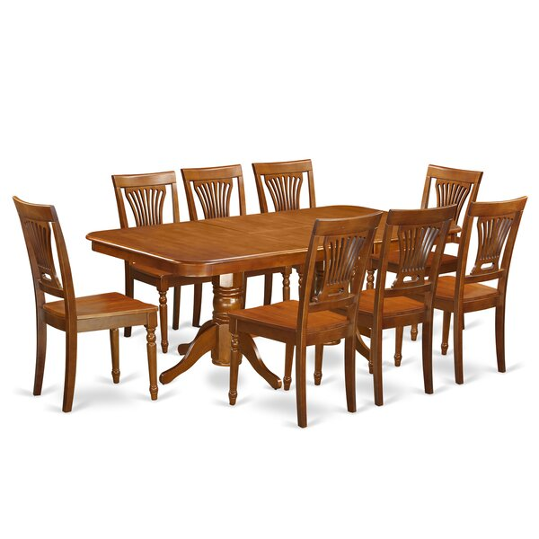 Pillsbury Traditional 9 Piece Dining Set with Rectangular Table Top by August Grove
