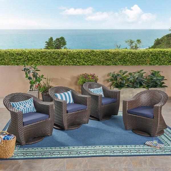 Gaviota Patio Chair with Cushions (Set of 4) by Wrought Studio