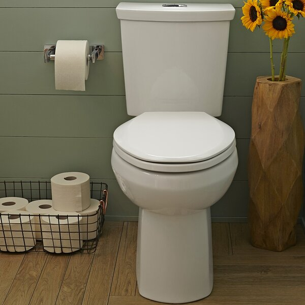 H2Option Dual Flush Round Two-Piece Toilet by American Standard