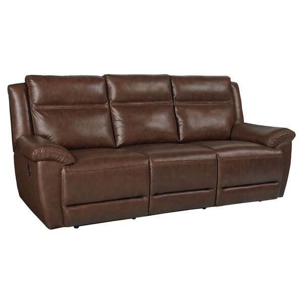Maricopa Manual Motion Leather Reclining Sofa by Loon Peak