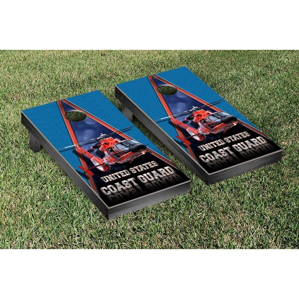 NCAA US Coast Guard Helicopter Version Cornhole Game Set by Victory Tailgate