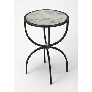 Read Reviews Taraska Metal and Mirror End Table By Ivy Bronx