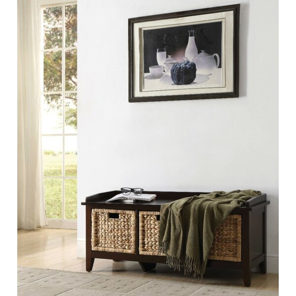 Whitten Basket Wood Storage Bench by Breakwater Bay Breakwater Bay