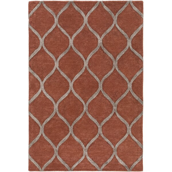 Bronaugh Hand-Tufted Clay/Taupe Area Rug by Greyleigh