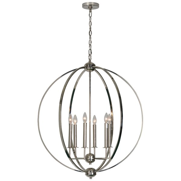Harshal 6 - Light Candle Style Globe Chandelier by Orren Ellis Orren Ellis
