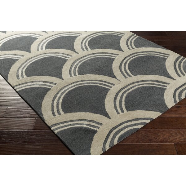 Gingras Gray/Ivory Area Rug by Ivy Bronx