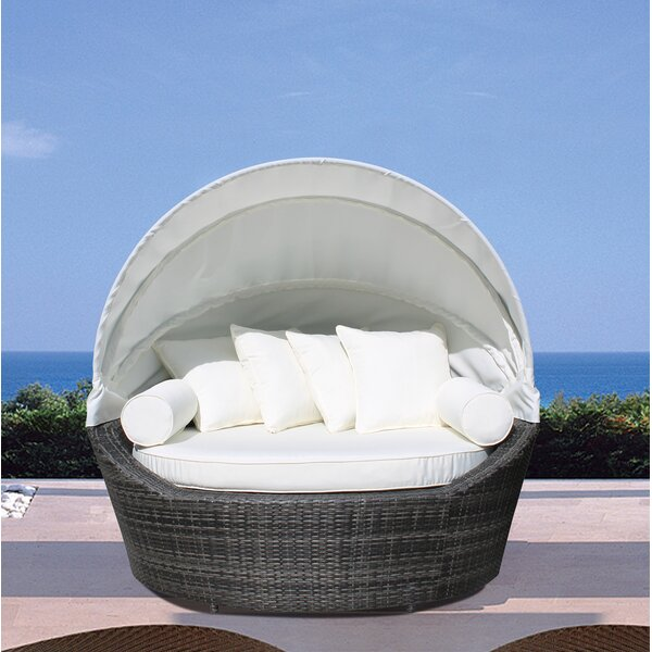 Carrasco Daybed with Cushions by Rosecliff Heights