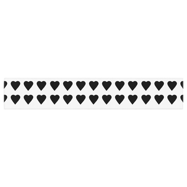 Project M Heart Stripeses Shapes Table Runner by East Urban Home