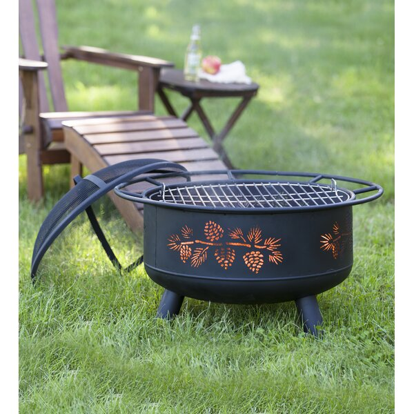 Pine Cone Steel Wood Burning Fire Pit by Plow & Hearth