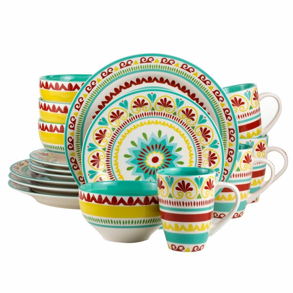 Erving 16 Piece Dinnerware Set, Service for 4 by World Menagerie