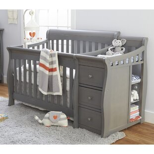 Grey Crib With Changing Table Modern Coffee Tables And