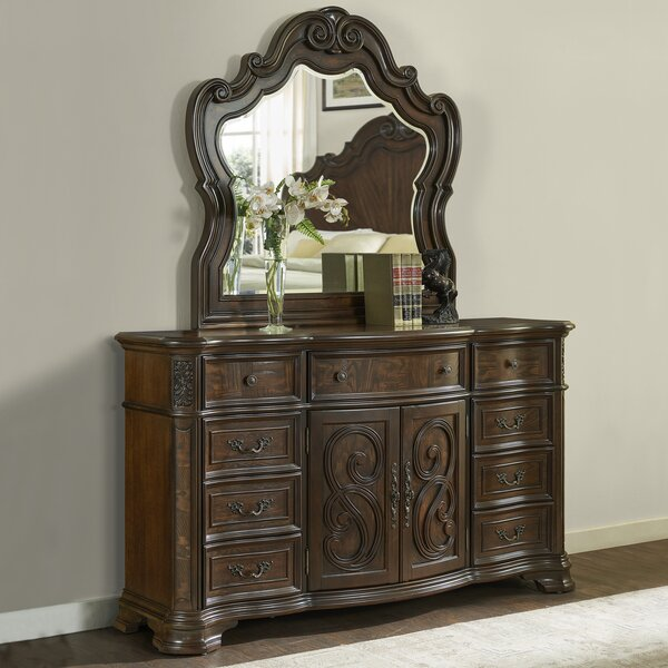 Valerian 9 Drawer Combo Dresser with Mirror by Astoria Grand