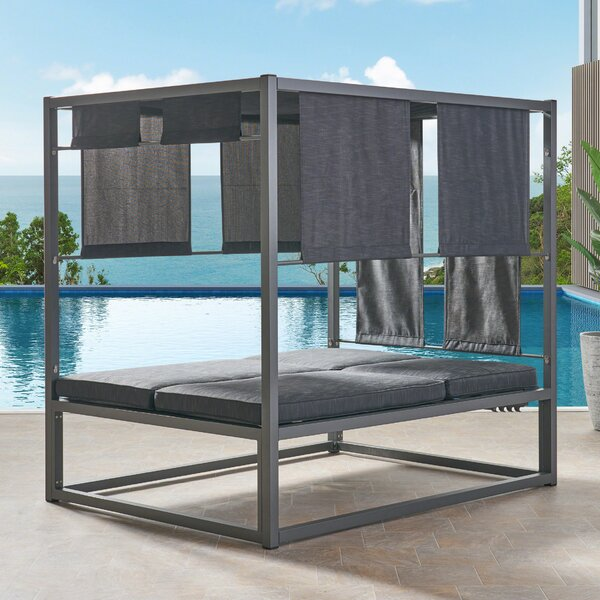 Diller Patio Daybed with Cushions by Orren Ellis