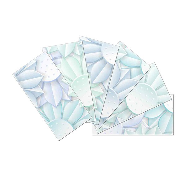 Crystal Skin 3 x 6 Glass Subway Tile in Light Blue by SkinnyTile