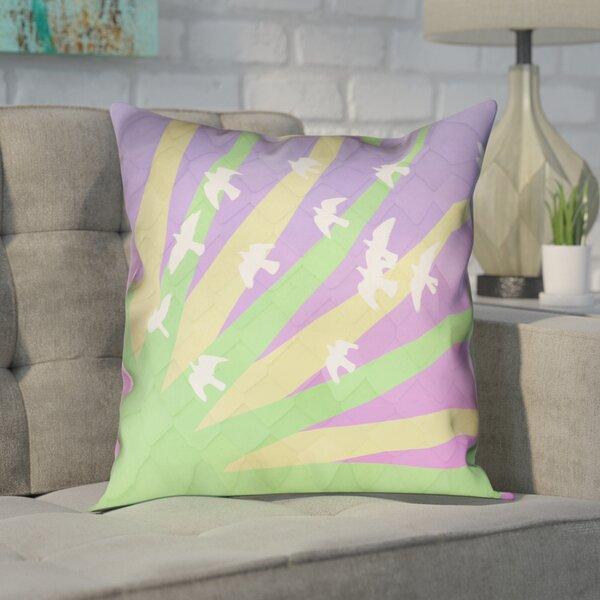 Enciso Modern Birds and Sun Pillow Cover by Brayden Studio
