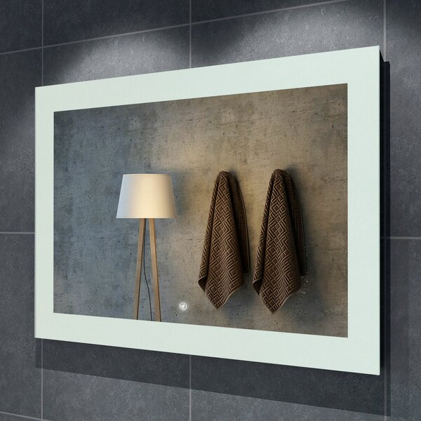 Seneca Illuminated LED Bathroom/Vanity Mirror by Orren Ellis