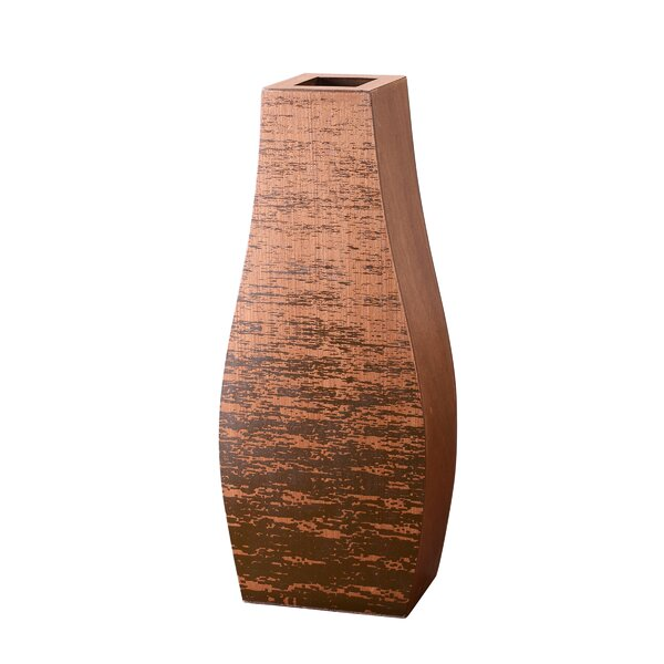 Ato Bottle Mango Wood Floor Vase by World Menagerie